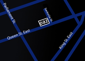 Our Location: 438 Queen St. East (click to view larger map)